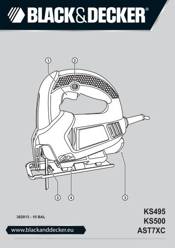 BlackandDecker Maschera Da Taglio- Ks500 - Type 1 - Instruction Manual (Balcani)