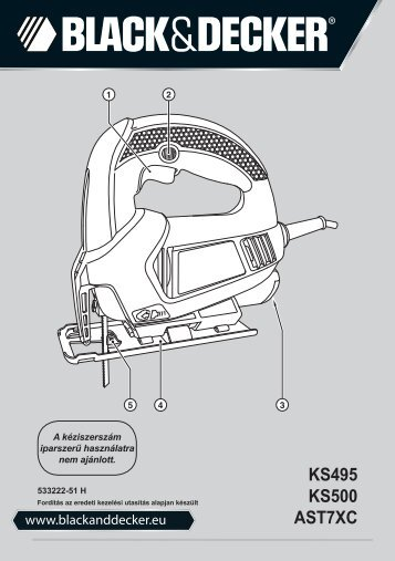 BlackandDecker Maschera Da Taglio- Ast7xc - Type 1 - Instruction Manual (Ungheria)