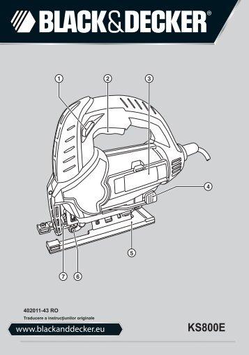 BlackandDecker Maschera Da Taglio- Ks800e - Type 1 - Instruction Manual (Romania)