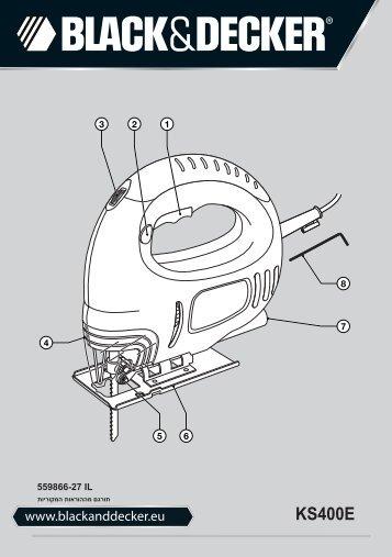 BlackandDecker Maschera Da Taglio- Ks400e----A - Type 1 - Instruction Manual (Israele)