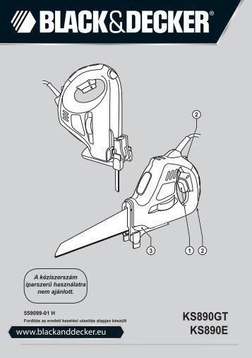 BlackandDecker Sega- Ks890gt - Type 1 - Instruction Manual (Ungheria)