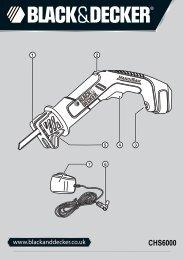 BlackandDecker Sega Orizzontale- Chs6000---A - Type H1 - Instruction Manual (Inglese)