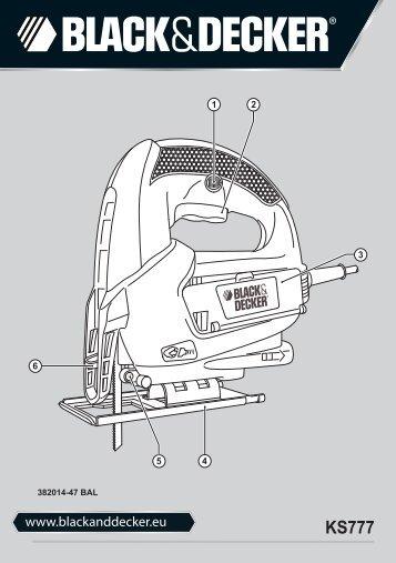 BlackandDecker Maschera Da Taglio- Ks777 - Type 1 - Instruction Manual (Balcani)