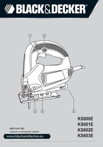 BlackandDecker Maschera Da Taglio- Ks601e - Type 1 - Instruction Manual (Romania)