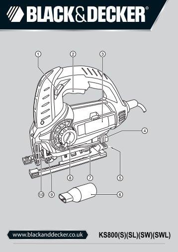 BlackandDecker Maschera Da Taglio- Ks800slw - Type 1 - Instruction Manual (Inglese)