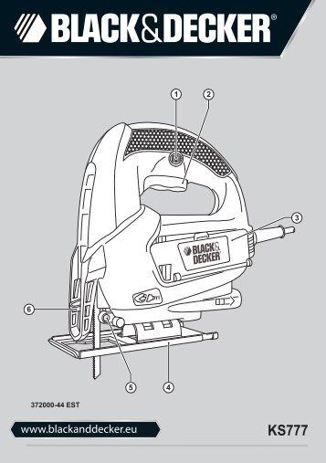 BlackandDecker Maschera Da Taglio- Ks777 - Type 1 - Instruction Manual (Estonia)