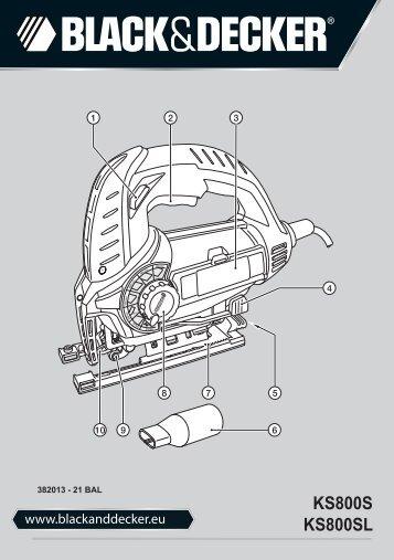 BlackandDecker Maschera Da Taglio- Ks800s - Type 1 - Instruction Manual (Balcani)