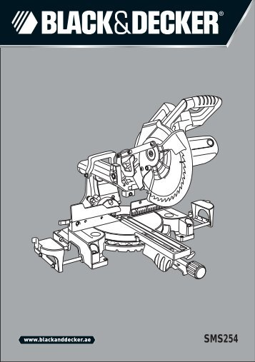 BlackandDecker Sega Taglio Angolare- Sms254 - Type 1 - Instruction Manual (Inglese - Arabo)