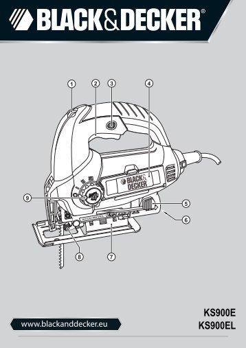 BlackandDecker Maschera Da Taglio- Ks900el - Type 1 - Instruction Manual (Europeo)
