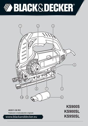 BlackandDecker Maschera Da Taglio- Ks900sl - Type 1 - Instruction Manual (Romania)