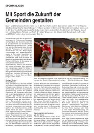 Mit Sport die Zukunft der Gemeinden gestalten - Bundesamt für ...