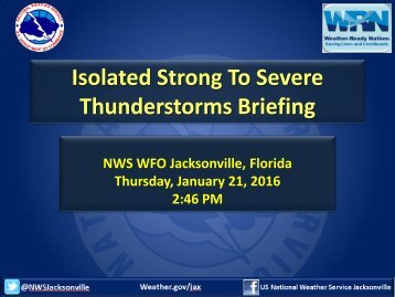 Thunderstorms Briefing