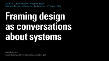 Framing design as conversations about systems