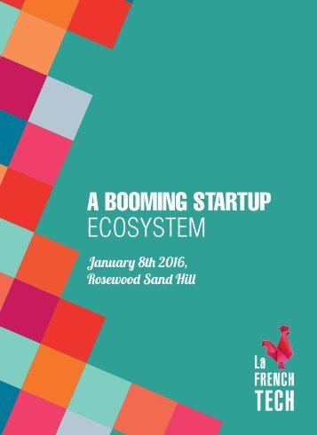 A BOOMING STARTUP ECOSYSTEM