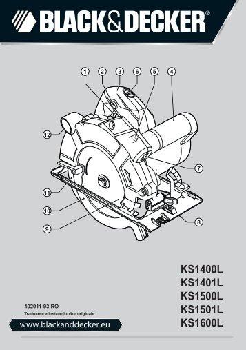 BlackandDecker Sega Circolare- Ks1500l - Type 2 - Instruction Manual (Romania)