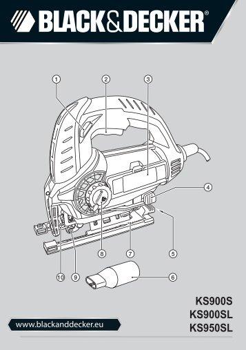 BlackandDecker Maschera Da Taglio- Ks950sl - Type 1 - Instruction Manual (Europeo Orientale)