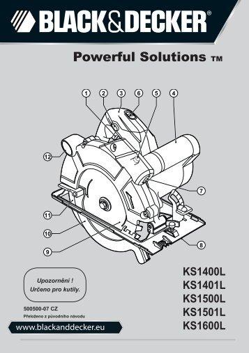 BlackandDecker Sega Circolare- Ks1500l - Type 1 - Instruction Manual (Czech)