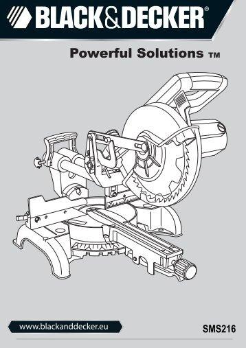 BlackandDecker Sega Taglio Angolare- Sms216 - Type 1 - Instruction Manual (Europeo)