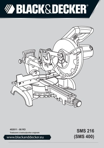 BlackandDecker Sega Taglio Angolare- Sms216 - Type 1 - Instruction Manual (Romania)