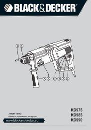 BlackandDecker Martello Ruotante- Kd975 - Type 2 - Instruction Manual (Bulgaro)