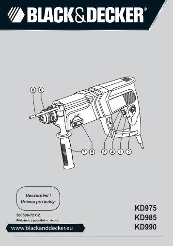 BlackandDecker Martello Ruotante- Kd985 - Type 2 - Instruction Manual (Czech)