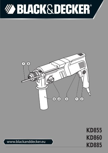 BlackandDecker Martello Ruotante- Kd885 - Type 1 - Instruction Manual (Europeo)