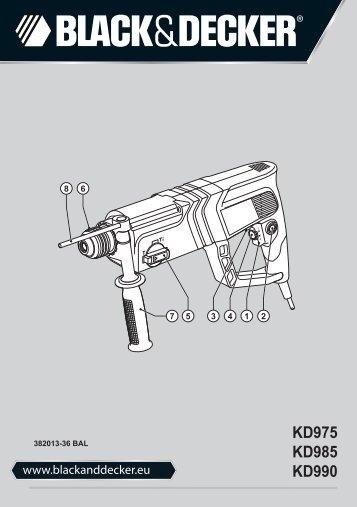 BlackandDecker Martello Ruotante- Kd985 - Type 2 - Instruction Manual (Balcani)