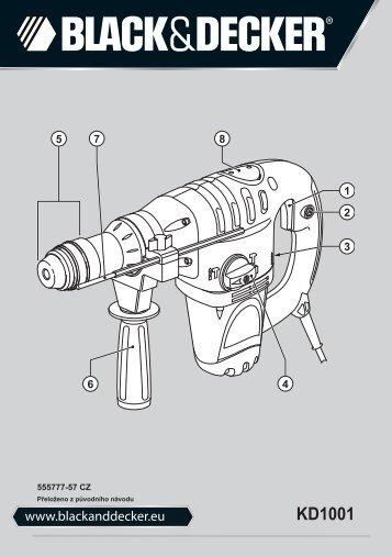BlackandDecker Martello Ruotante- Kd1001k - Type 3 - Instruction Manual (Czech)