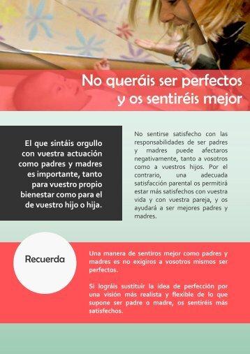 No queráis ser perfectos y os sentiréis mejor