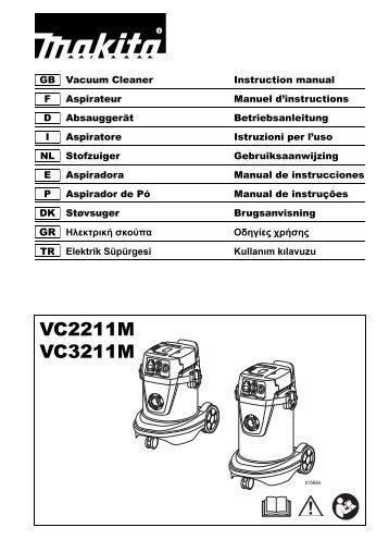 Makita ASPIRATORE - VC3211MX1 - Manuale Istruzioni
