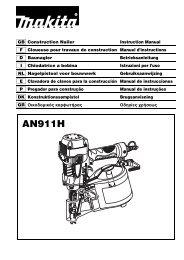Makita CHIODATRICE PNEUMATICA ALTA PRESSIONE - AN911H - Manuale Istruzioni