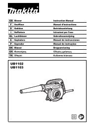 Makita SOFFIATORE - UB1103Z - Manuale Istruzioni