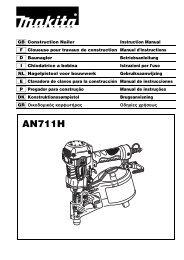 Makita CHIODATRICE PNEUMATICA ALTA PRESSIONE - AN711H - Manuale Istruzioni