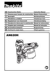 Makita CHIODATRICE PNEUMATICA ALTA PRESSIONE - AN620H - Manuale Istruzioni