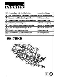 Makita SEGA CIRCOLARE 190mm - 5017RKB - Manuale Istruzioni