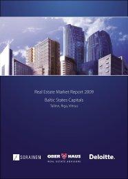 Real Estate Market Report 2009 Baltic States Capitals - Ober-Haus