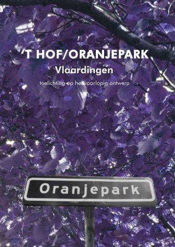Boekje ontwerp Hof-Oranjepark