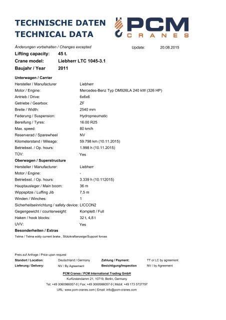 liebherr ltc 1045 3 1 for sale used crane gebrauchte kran zu verkaufen kaufen. Black Bedroom Furniture Sets. Home Design Ideas