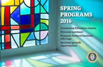 SPRING PROGRAMS 2016