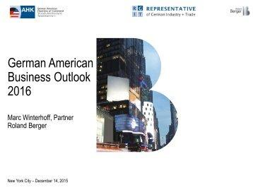 German American Business Outlook 2016
