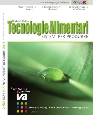 Tecnologie Alimentari 8 2011