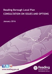 Reading Borough Local Plan CONSULTATION ON ISSUES AND OPTIONS