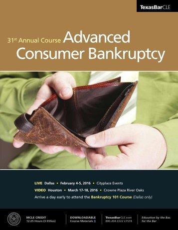 Advanced Consumer Bankruptcy