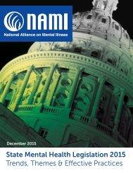 State Mental Health Legislation 2015