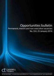 Opportunities bulletin
