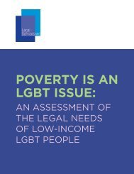 POVERTY IS AN LGBT ISSUE
