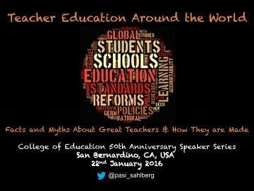 Teacher Education Around the World