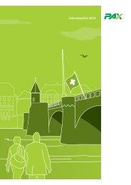 Jahresbericht 2010 - Pax Schweizerische Lebensversicherungs ...