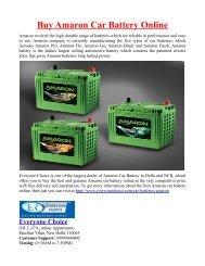 Buy Amaron Car Battery Online