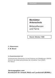 Merkblätter Artenschutz - Info Flora